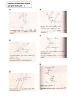 1) 2) 3) 4) 5) 6) paralel doğrular & açılar çalışma soruları 1