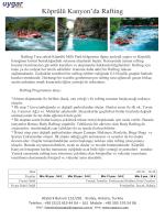 Köprülü Kanyon`da Rafting