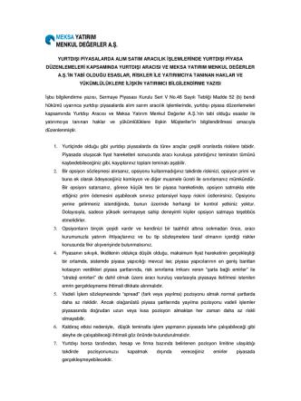 12.yurt dışı türev piyasalar bilgilendirme yazısı