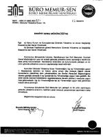 büro memur-sen`in emniyet genel müdürlüğü`ne gönderdiği yazı