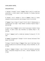 yayın listesi