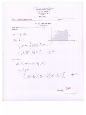 çözümü - TOBB Ekonomi ve Teknoloji Üniversitesi
