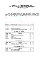 Kapanan Dersler Listesi - İzmir Yüksek Teknoloji Enstitüsü