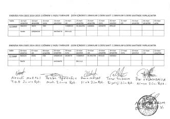 12.Sınıfların ortak sınav takvimi yayınlandı.