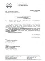 Resmi Yazı - Aksaray Milli Eğitim Müdürlüğü