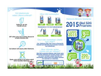 2015Okul Sütü Program›