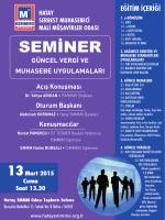 güncel vergi ve muhasebe uygulamaları semineri