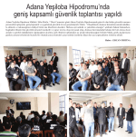 Adana Yeşiloba Hipodromu`nda geniş kapsamlı güvenlik