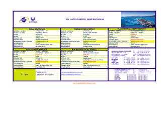 09. hafta parsiyel gemi programı
