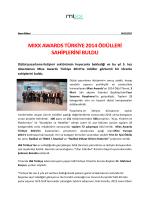 Mixx Awards Türkiye 2014 Ödülleri Sahiplerini Buldu