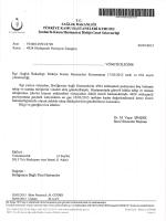 İlgili Yazı - TC Şanlıurfa Kamu Hastaneler Birliği Genel Sekreterliği
