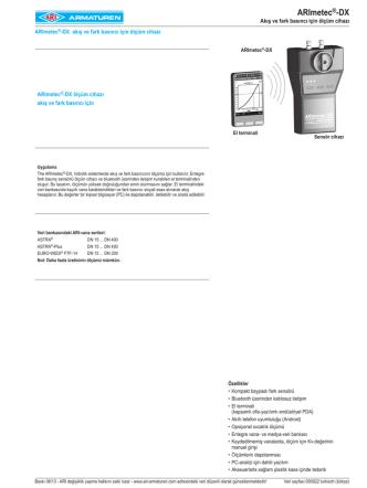 ARImetec®-DX - ARI Armaturen