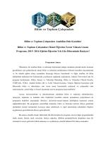 Bilim ve Toplum Çalışmaları İkinci Öğretim Tezsiz Yüksek Lisans