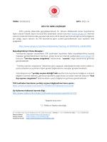 TARİH : 05/03/2015 SAYI : 2015 / 6 2015 YILI GENEL SEÇİMLERİ
