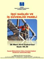 panel programı - İstanbul - İnşaat Mühendisleri Odası