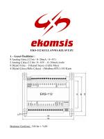 EKS-112 Kullanma Kılavuzu