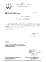 Müdürlüğümüzün konu ile ilgili 06/03/2015 tarih ve 2532739 sayılı