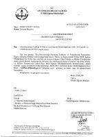 Müdürlüğümüzün konu ile ilgili 26/02/2015 tarih ve 2182636 sayılı