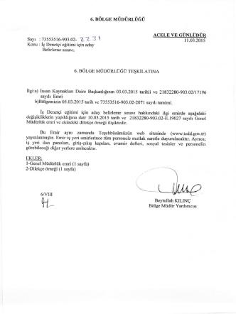 11.03.2015 - Devlet Demir Yollari 6.Bölge