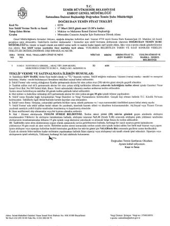 6250 Mercedes Conecto Araçlar İçin Susturucu Dirsek Alımı