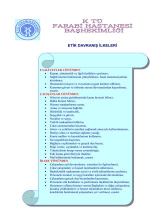 1. Etik Davranış İlkeleri