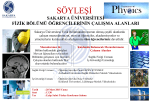 SÖYLEŞİ - Fizik Bölümü