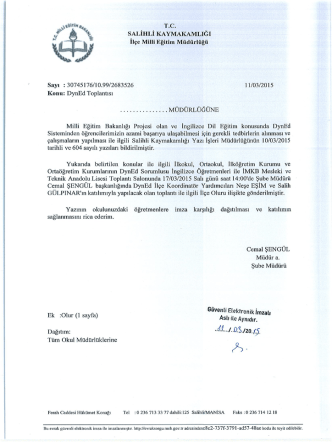 17032015 DynEd Toplantısı - Salihli İlçe Milli Eğitim Müdürlüğü