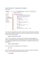 Sayısal Yöntemler - Programlama ön bilgileri