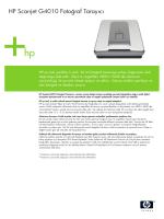 HP Scanjet Datasheet