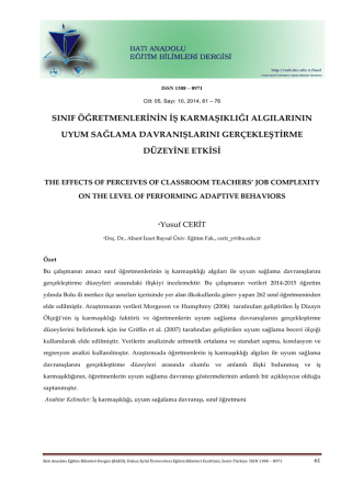 4) the effects of perceıves of classroom teachers?