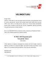 VELİMEKTUBU - GEW
