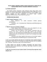 Gelir Uzm.Yrd.na Atanacaklardan İstenen belgeler ve Açıklamalarr
