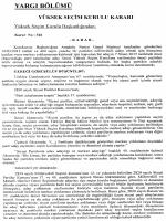 Yüksek Seçim Kurulunun 13/3/2015 Tarihli ve 326