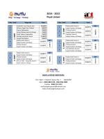 2014 - 2015 Fiyat Listesi