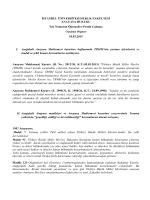 Yasama Organı - İstanbul Üniversitesi | Hukuk Fakültesi