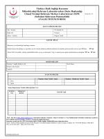 (SSP) Analiz İstem Formu - Mikrobiyoloji Referans Laboratuvarları