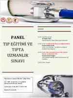 panel tıp eğitimi ve tıpta uzmanlık sınavı