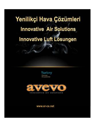 AVEVO ürün broşürü - Er-CE