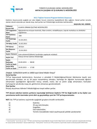 Değişik: 15/04/2014 tarihli