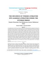 Osmanlı Döneminde Türk Edebiyatının Arnavut Edebiyatına Etkisi