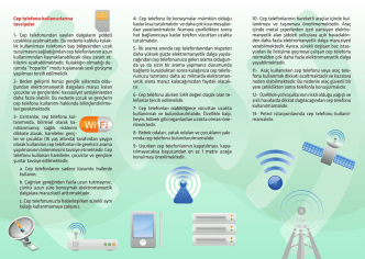 Cep Telefonları ve Sağlığa Etkileri.pdf için Tıklayınız