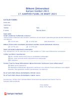 Formlar - Bilkent Üniversitesi Kariyer Merkezi