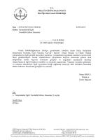 T.c. MİLLİ EĞİTİM BAKANLIĞI - Manisa Milli Eğitim Müdürlüğü