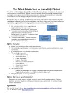Veri Bilimi, Büyük Veri, ve İş Analitiği Eğitimi - Hakkında