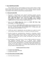 1.1. Kısa Vadeli İhracat Kredileri Türk Eximbank, ihracatçı ve