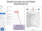 Disiplin Soruşturma Zarf Baskı ve Boyutlandırma