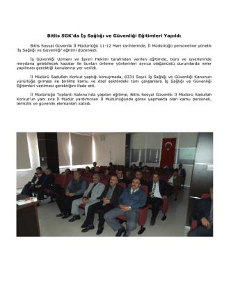 CACHEID=ebef2ab4-b2c7-4e13-9bb3-7650744a3888;Müdürlüğümüzde İş Sağlığı ve Güvenliği Eğitimi Verildi.