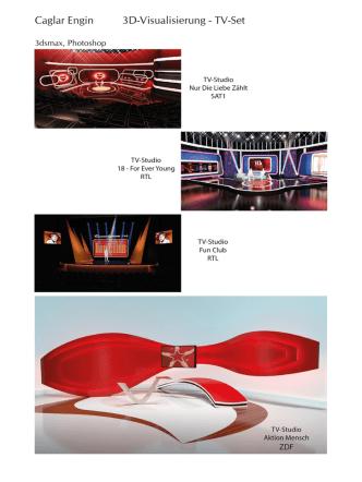Caglar Engin 3D-Visualisierung - TV-Set