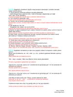 Zehra TÜZÜN Türkçe Öğretmeni Etkinlik:Aşağıdaki cümlelerde