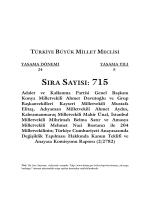 sıra sayısı: 715 - Türkiye Büyük Millet Meclisi
